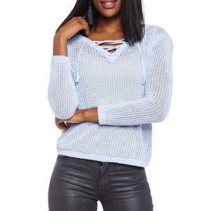 3/30 BB Dakota   Lily Lace Up Sweater